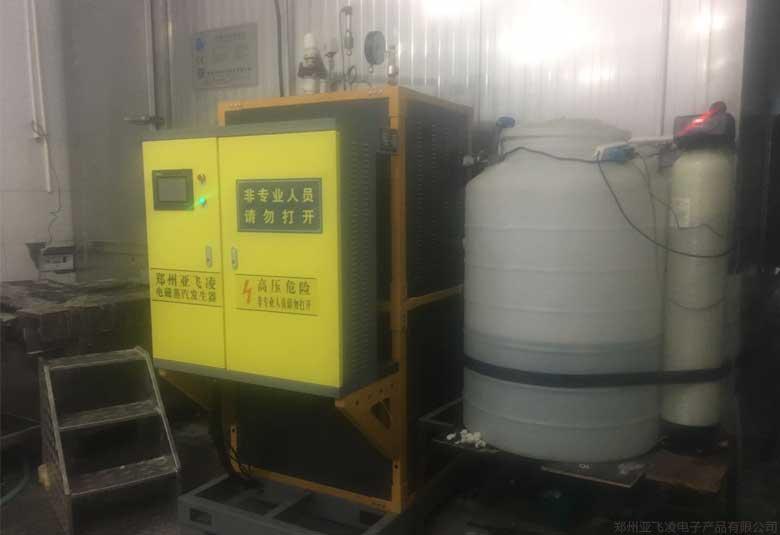 山东某冷库除霜用100KW电磁蒸汽锅炉项目